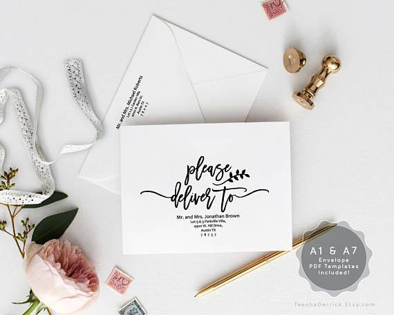 Editable A And A Envelope Template Instant Download Pdf