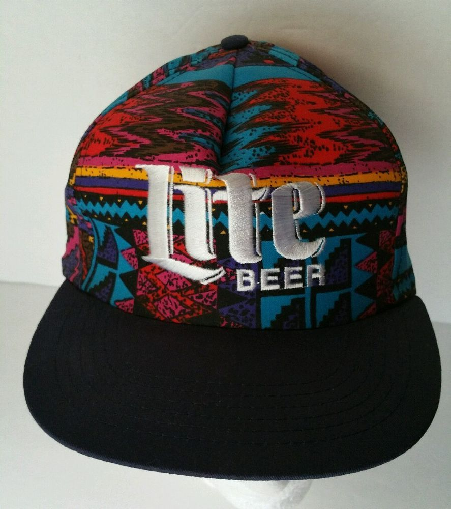 bcc743220dae8 ... discount miller lite beer cap multicolored hat vintage aztec  southwestern style southwestern style f7ef0 13118