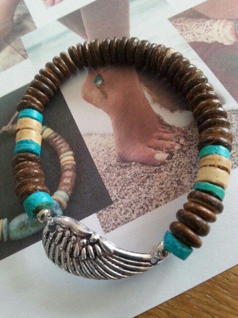 Bracelet hout  www.ibiza-bibi.nl