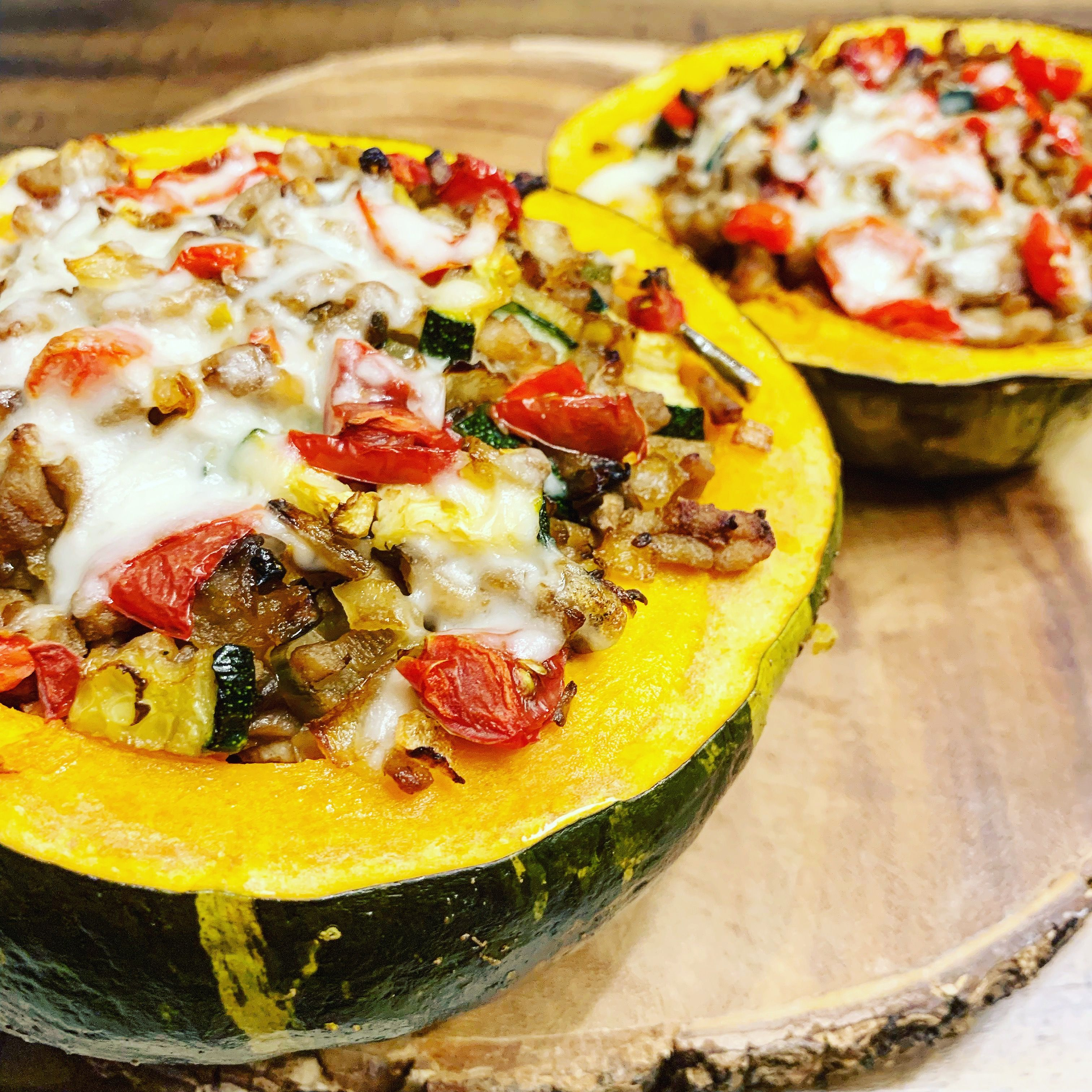 Just In Time For Fall Stuffed Roasted Buttercup Squash Oh Sooooo Delicious Stuffedsquash Stuffedbutter Buttercup Squash Healthy Recipes Healthy Eating