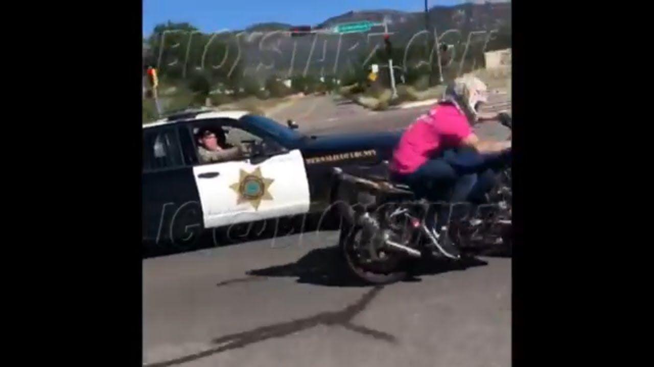 Motorcycle Vs Cops Wildest Police Chase Cop Pulls Piece On Biker