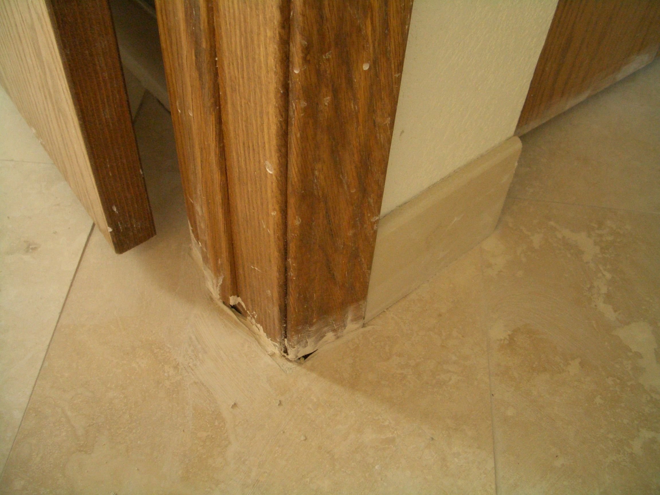 Cutting Wood Flooring Around Door Frame | http://dreamhomesbyrob.com ...
