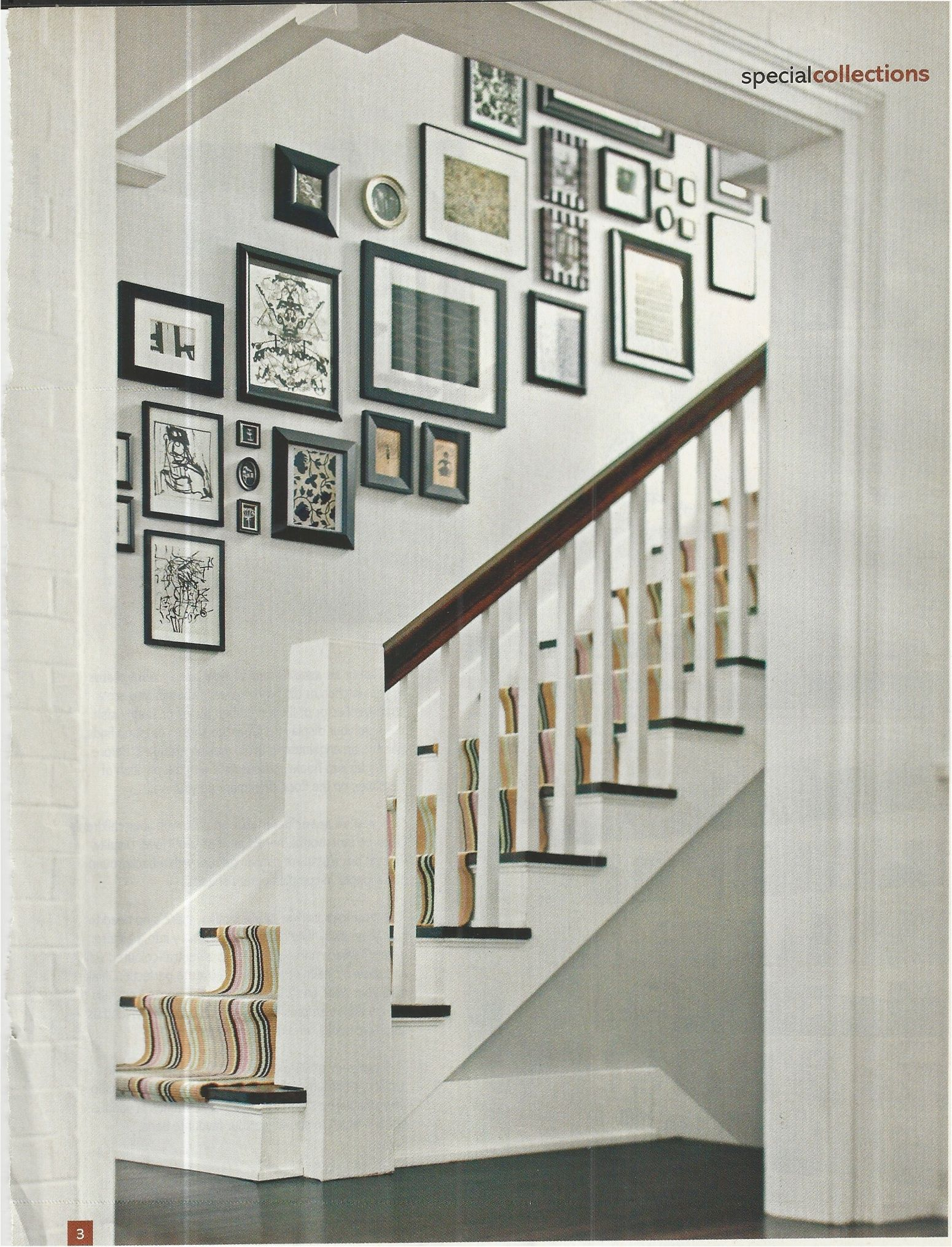 Picture wall over stairs | new house | Pinterest | Diplomas ...