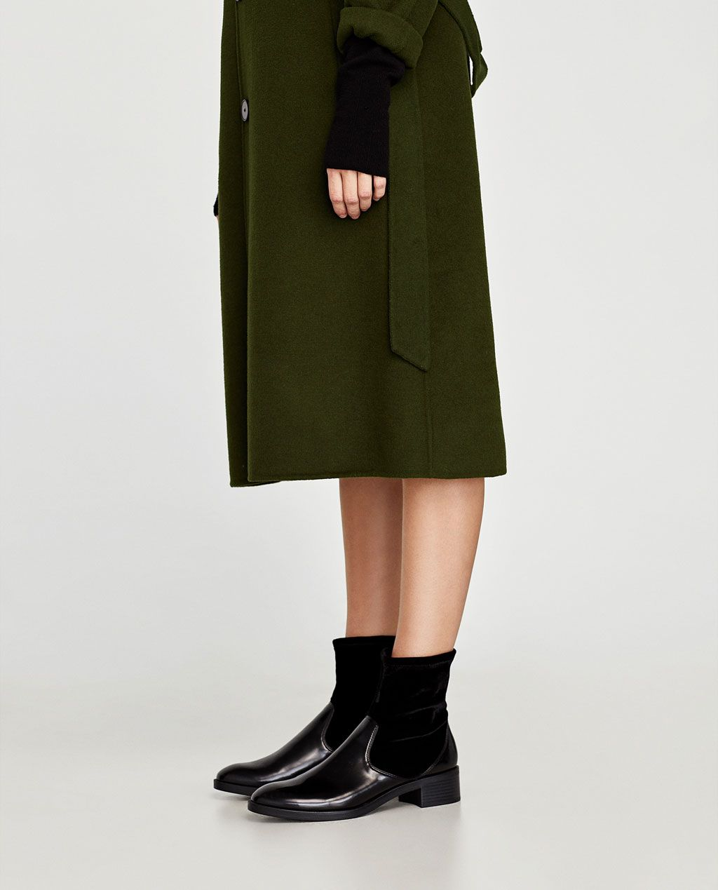16c0e7610ba Image 4 of CONTRASTING VELVET ANKLE BOOTS from Zara   Shoes ...
