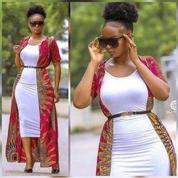 Tomi African print kimono jacket #kitengedesigns