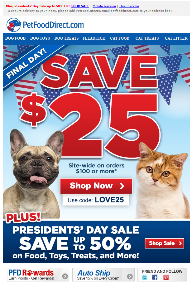 presidents day food coupons