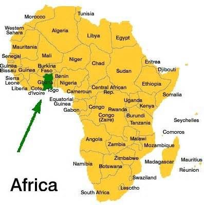 Where is Ghana? | Favorite Places & Spaces | Africa map, Ghana