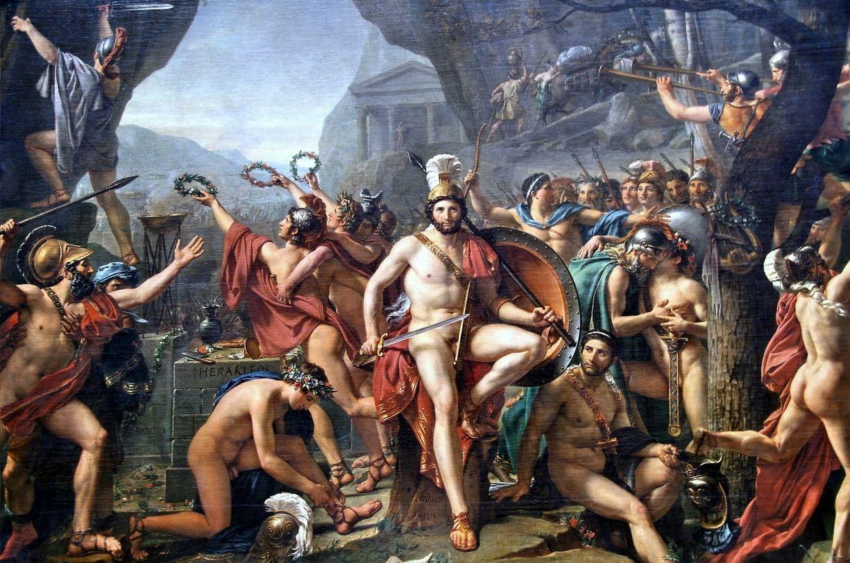 David-Léonidas aux Thermopyles 1