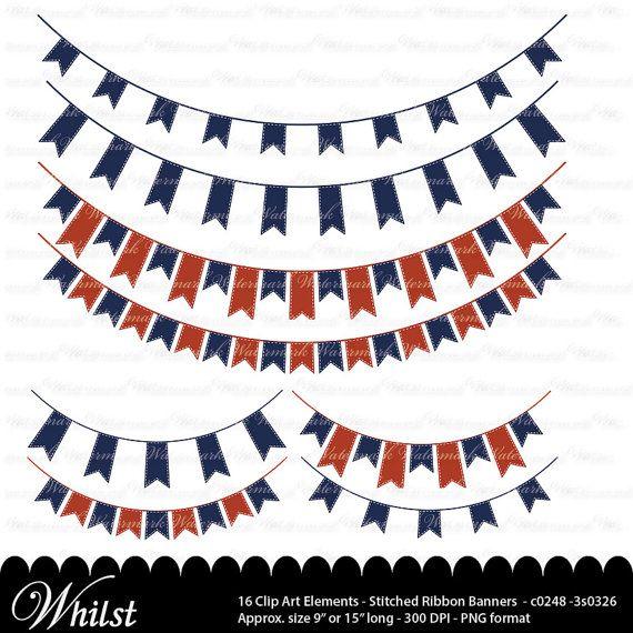 Navy Red Banner Clip Art Blue Ribbon Clipart Graphics Ribbon