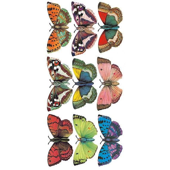 3 Sheets Self Adhesive Butterfly Stickers Colorful ...