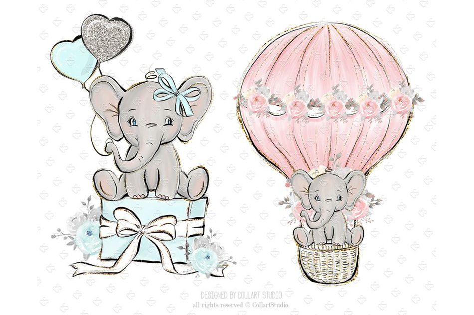 Download Baby Elephant clipart, Baby boy baby girl clipart ...