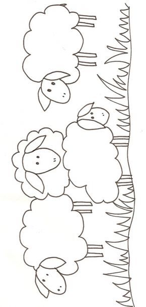 Coloriage de mouton et agneaux moutons imprimer embroidery embroidery applique et - Dessin agneau ...