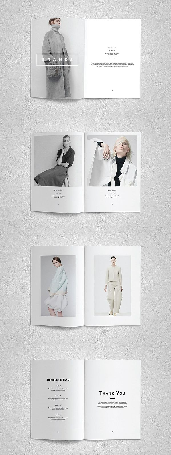 lookbook brochure templates pinterest templates brochure