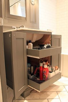 How To Add Drawers Small Bathroom Vanity Google Search