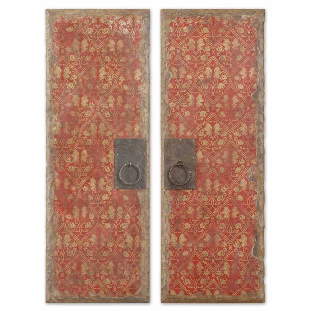 Red door panels set of overstock shopping great deals on