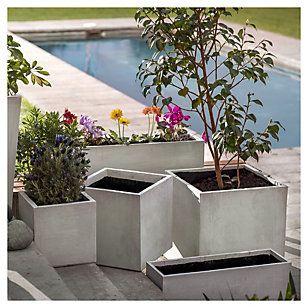 Fvh jardinera de cemento 90x22x22 cm gris jardineras - Jardineras de cemento ...