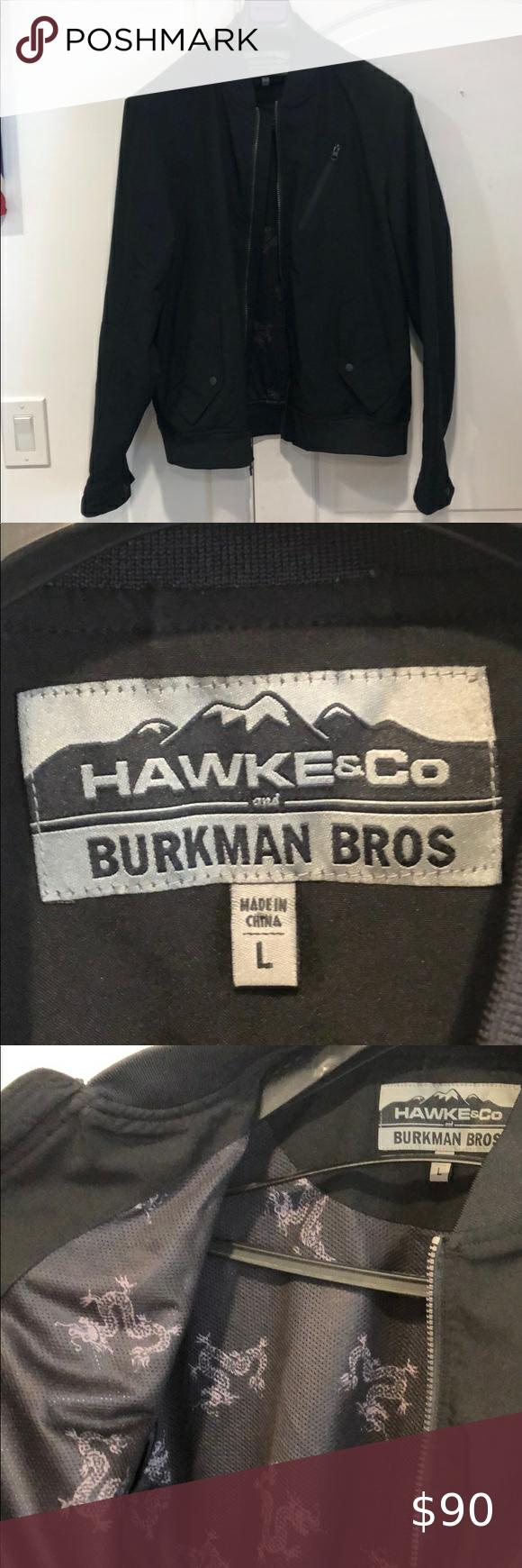 Hawke Co And Burkman Bros Black Bomber Jacket Black Bomber Jacket Stylish Jackets Black Bomber [ 1740 x 580 Pixel ]