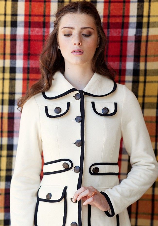 Bardot Coat By Knitted Dove | Modern Vintage New Arrivals