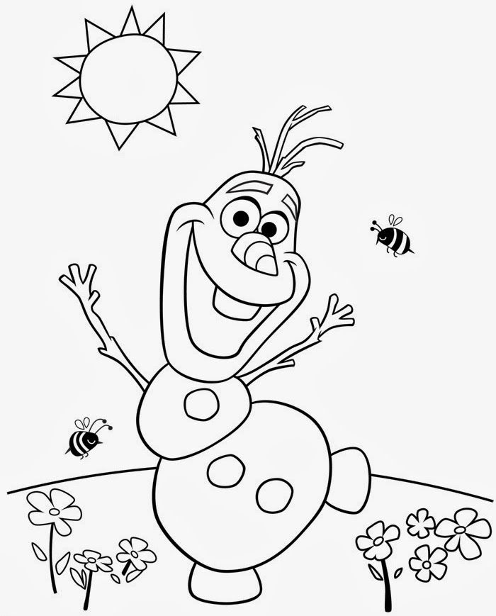 frozen coloring pages to print olaf