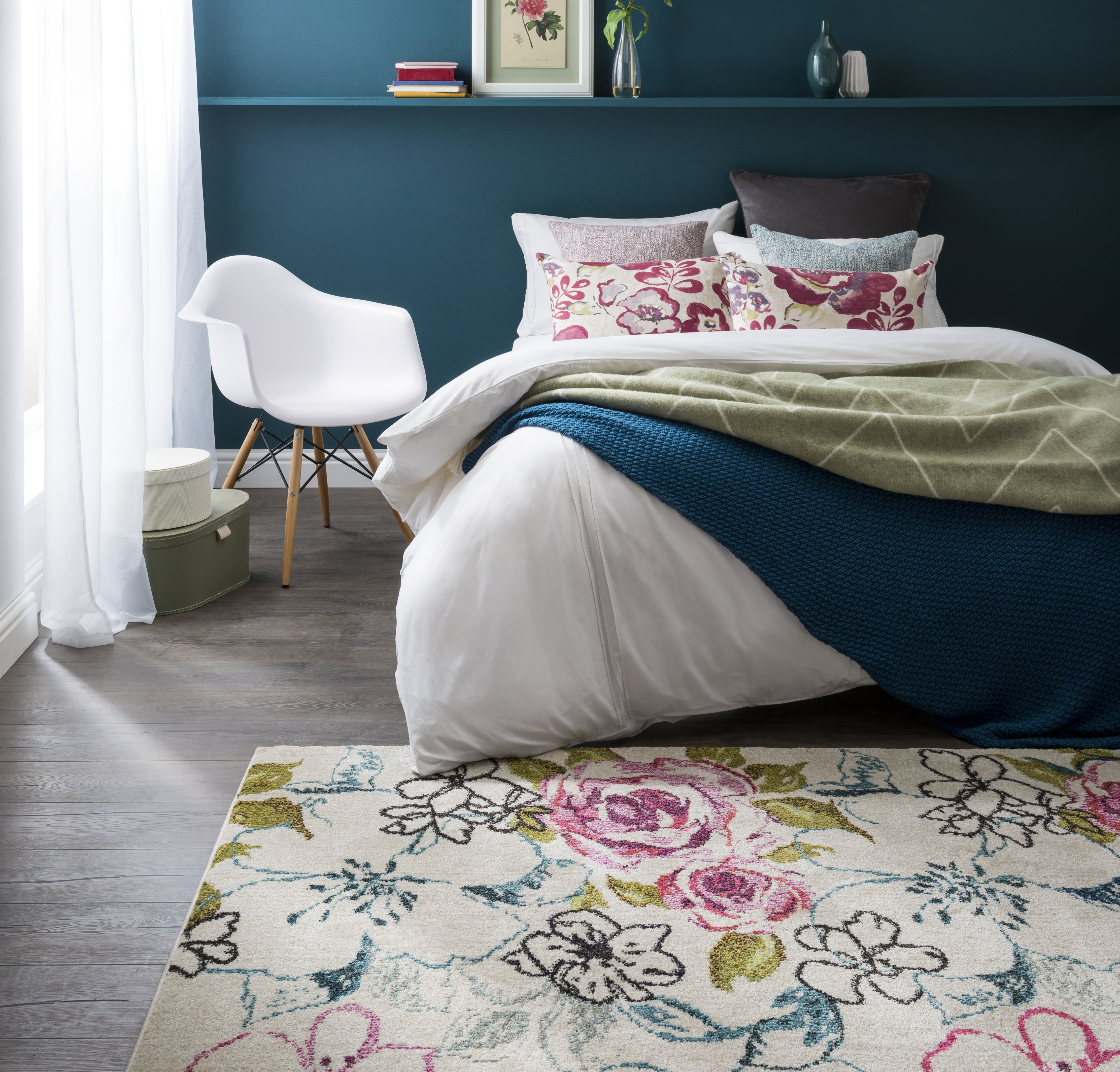 Pin by Carpetright on Our latest rugs Floral rug, Rugs