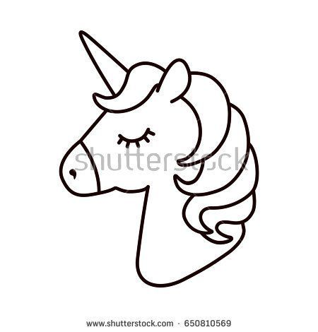 Unicorn Vector Horse Head Sleep Colored Book Black And White Sticker Icon Is Boyama Kitaplari Doodle Desenleri Aplike Sablonlari