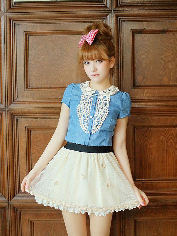Gold Floral Applique Skirt, $29.99