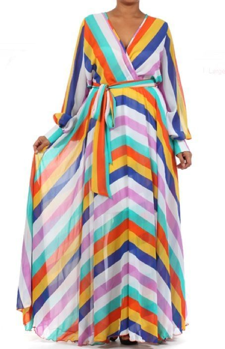 90b64ea3938 FULL SWEEP Chiffon MAXI DRESS Wrap SHEER Gown CRUISE Long Skirt Vtg PARTY  Blouse