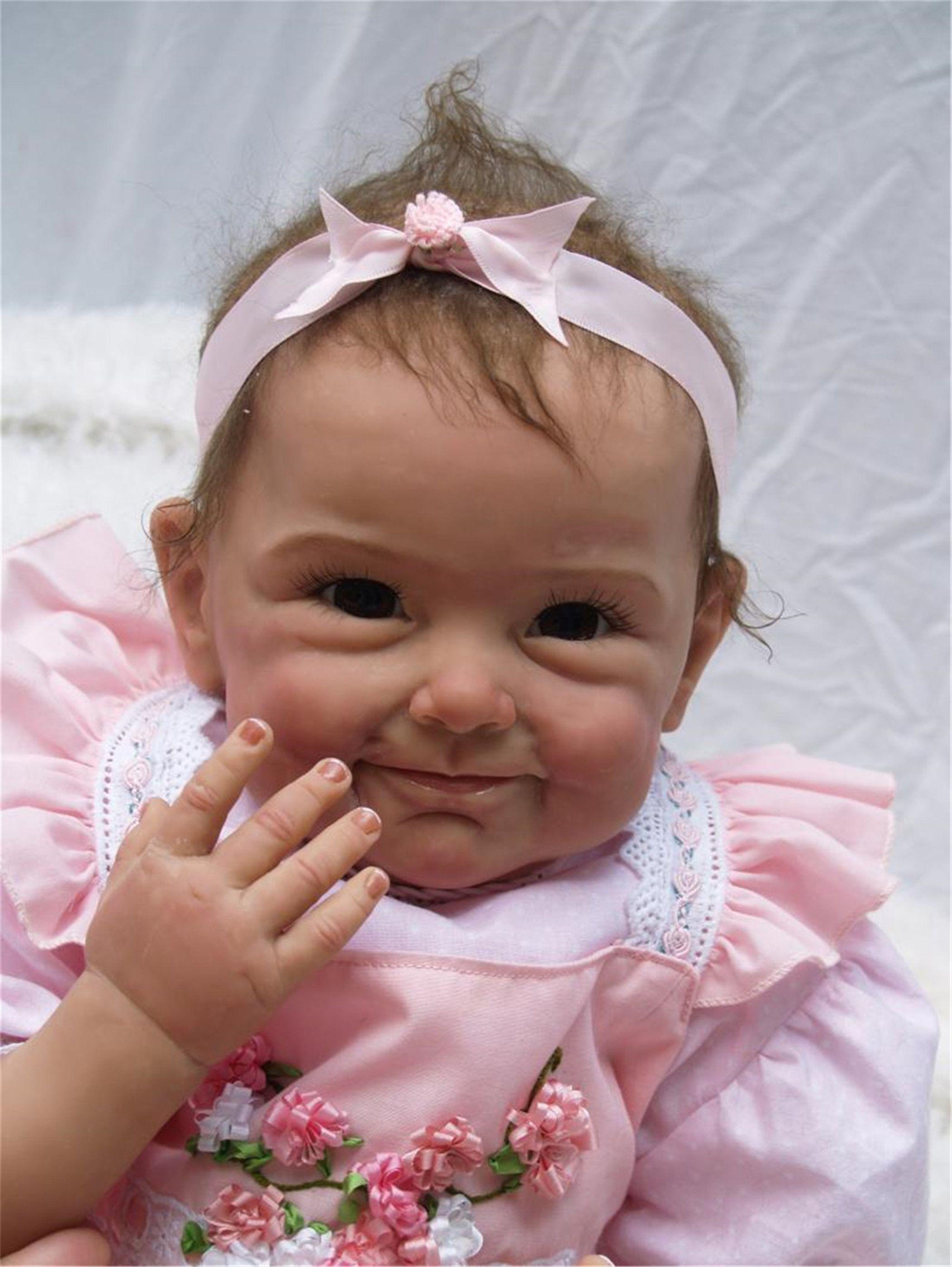 22 Handmade Lifelike Reborn Baby Doll Newborn Silicone