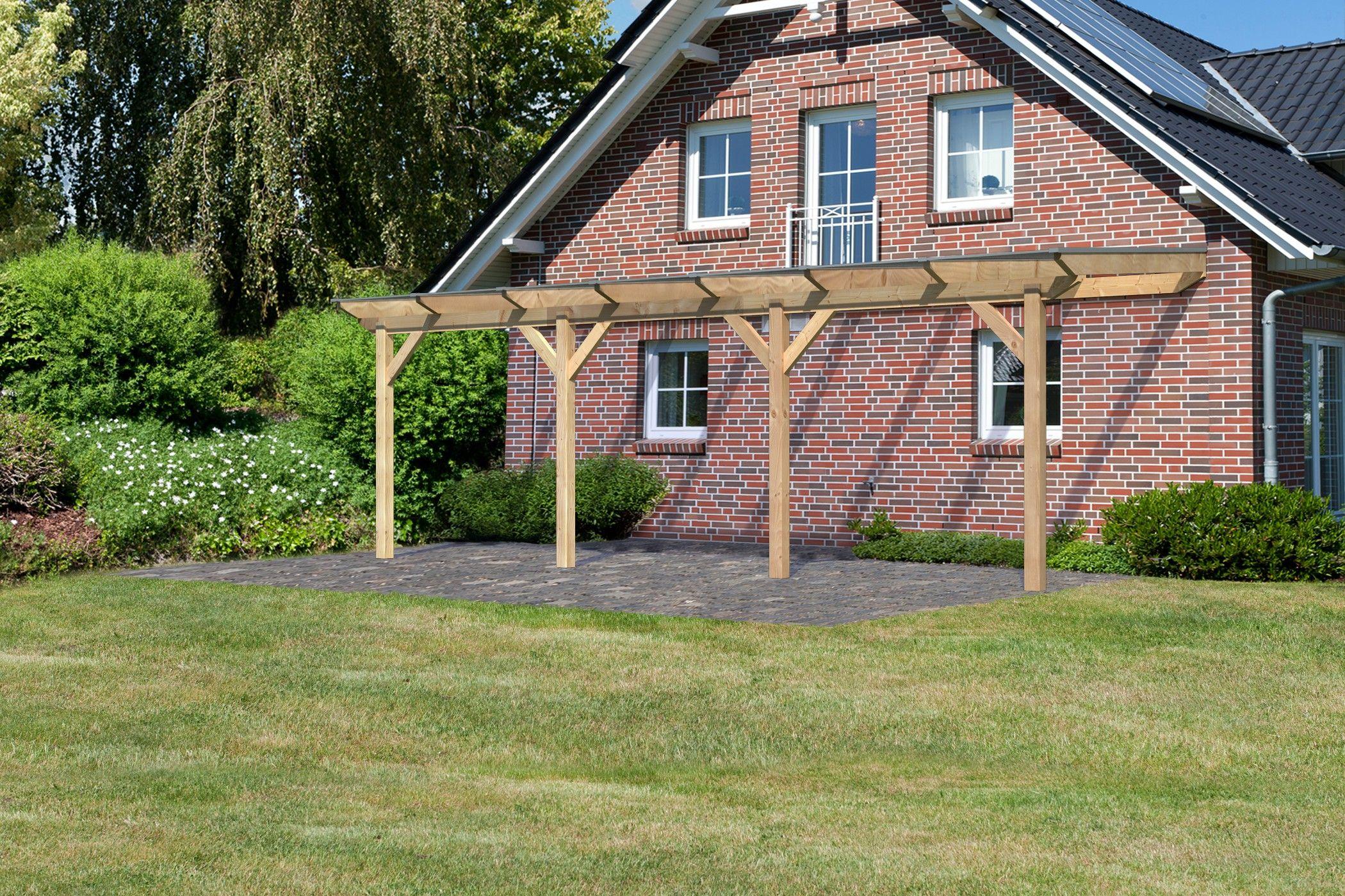 pergola auvent en bois 658 222 cm m2 avec toit. Black Bedroom Furniture Sets. Home Design Ideas