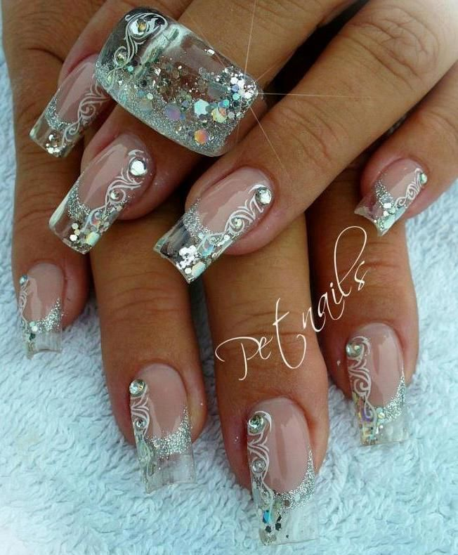 Pin by Tammy Campbell on nails | Pinterest | Pedi, Long nail designs ...