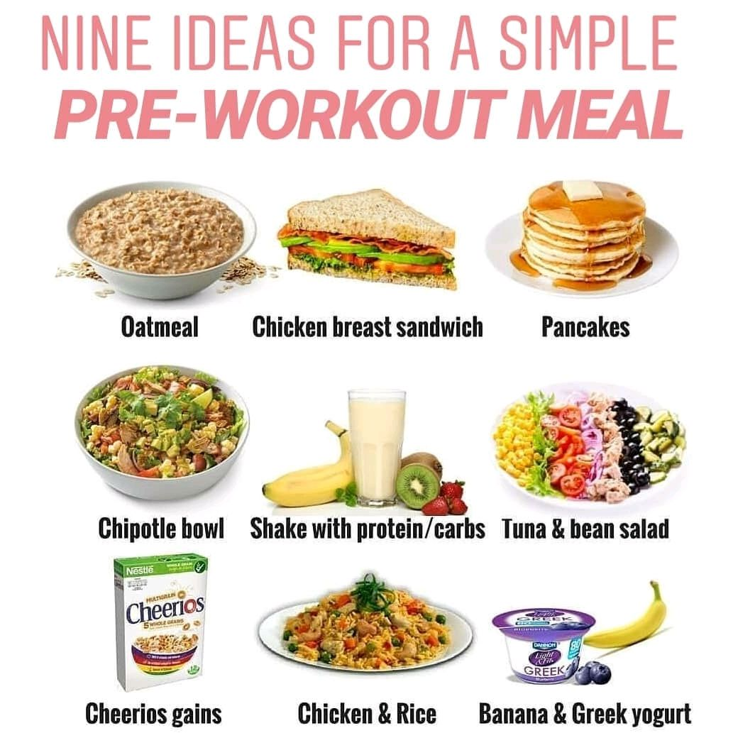 ▷️simple pre-workout meals◁ . . ▷️fueling your body with the