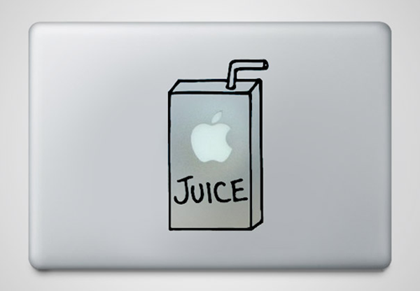 25 creative macbook skins using the apple logo