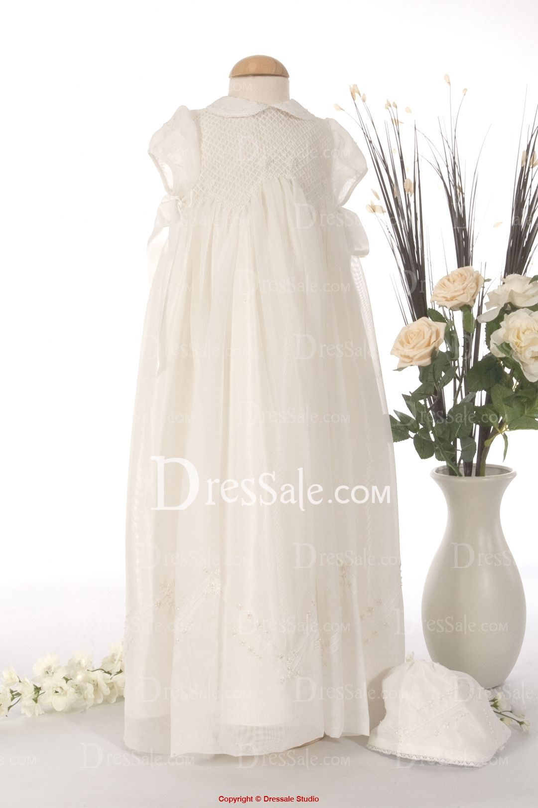 Organza Flower Girl Dress with Short Sleeves