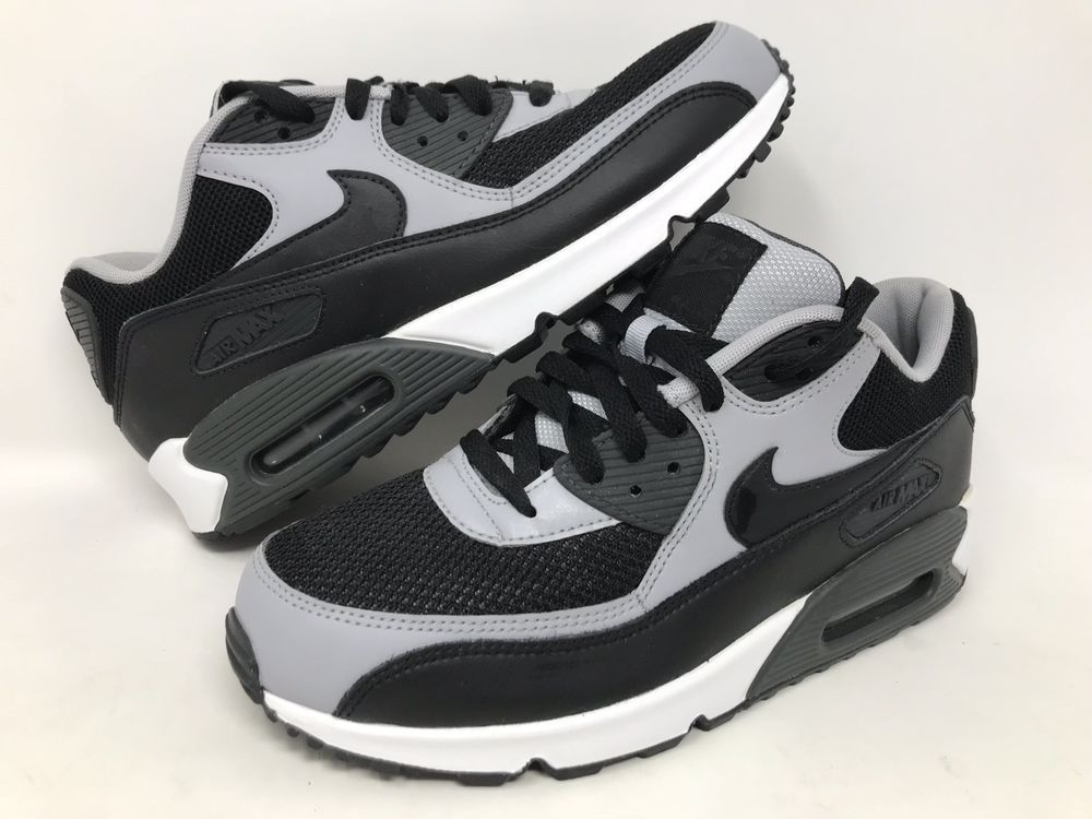 cheap for discount fa4ef fa7a0 Nike Air Max 90 Essential Mens Black Wolf Grey Running Shoes 537384 053  Size 9  Nike  RunningShoes