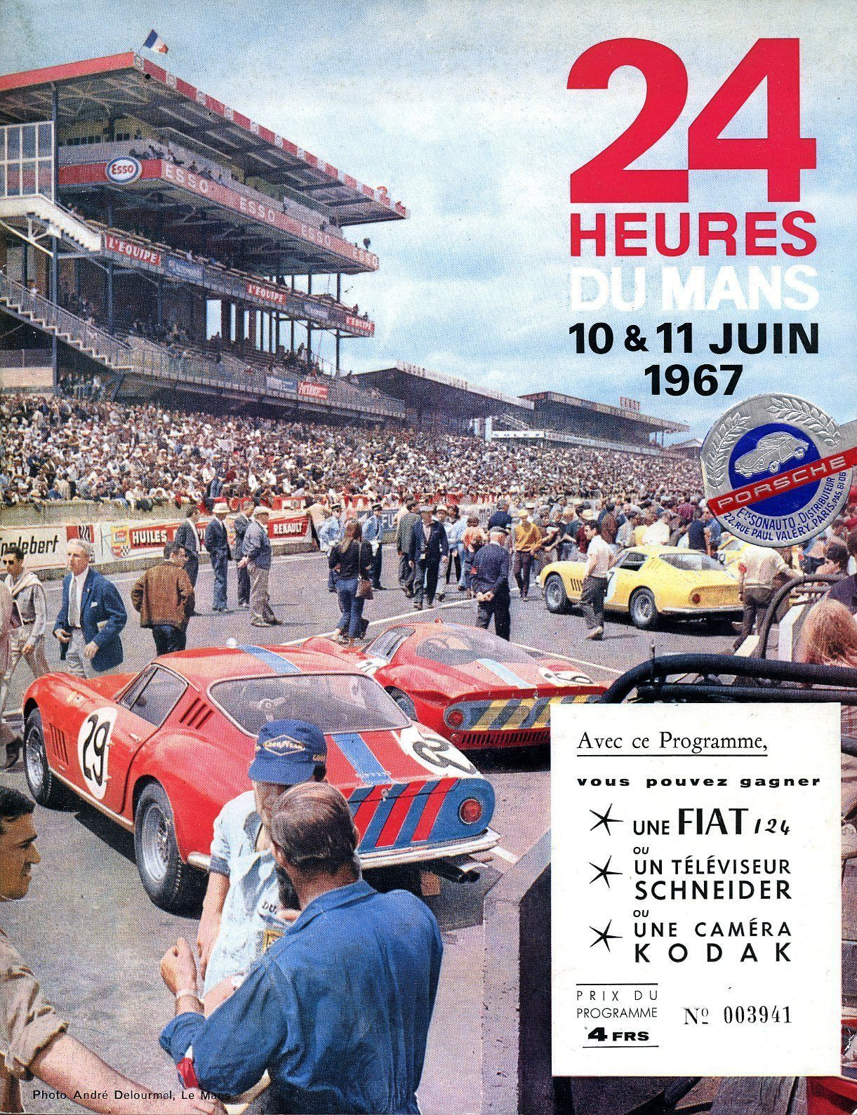 1967 Le Mans Race Program Dan Gurney Aj Foyt Ford Mkiv Wins
