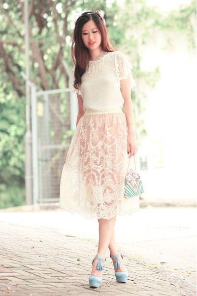 Mayo Wo - Yesstyle Ruffled Lace Top, Yesstyle Lace Skirt