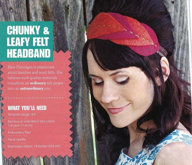 Leafy felt headband tutorial