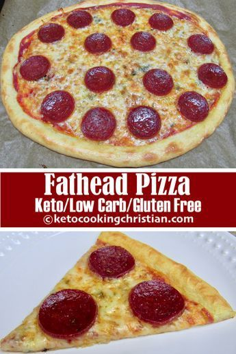 Fathead Pepperoni Pizza - Keto, Low Carb & Gluten Free This pepperoni pizza made with fathead dough, is the next best thing to the real deal and satisfies your pizza craving!