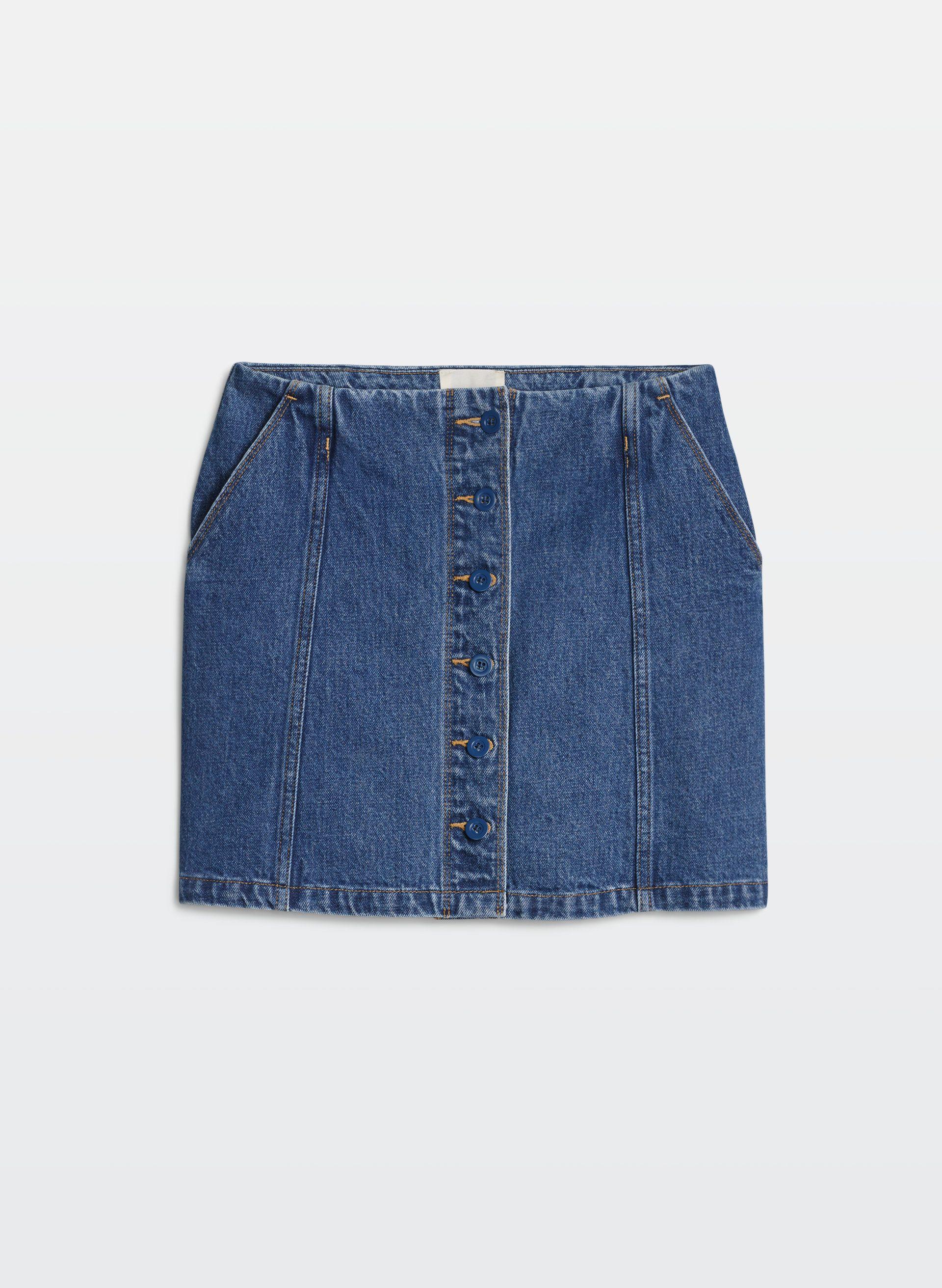 659fcaf56b37 Ahrens skirt   Spring•summer outfits   Skirts, Denim skirt, Mini skirts