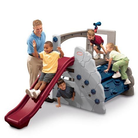 Toddler First Climber with Slide Yard Outdoor Playset Kids Activity Center Blue