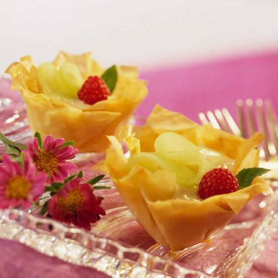 Melon and Cream Tartlets