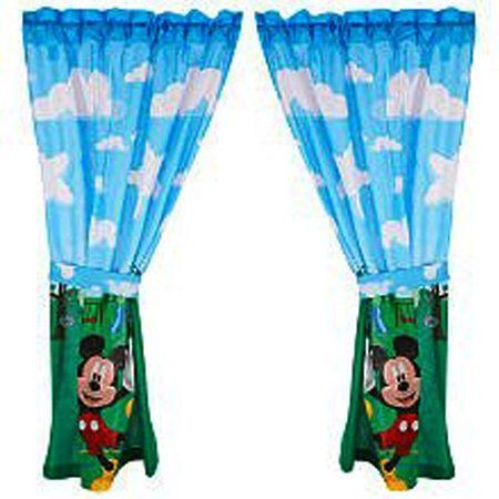 Amazon.com: Mickey Mouse Clubhouse Window Panels: $19.94 ...