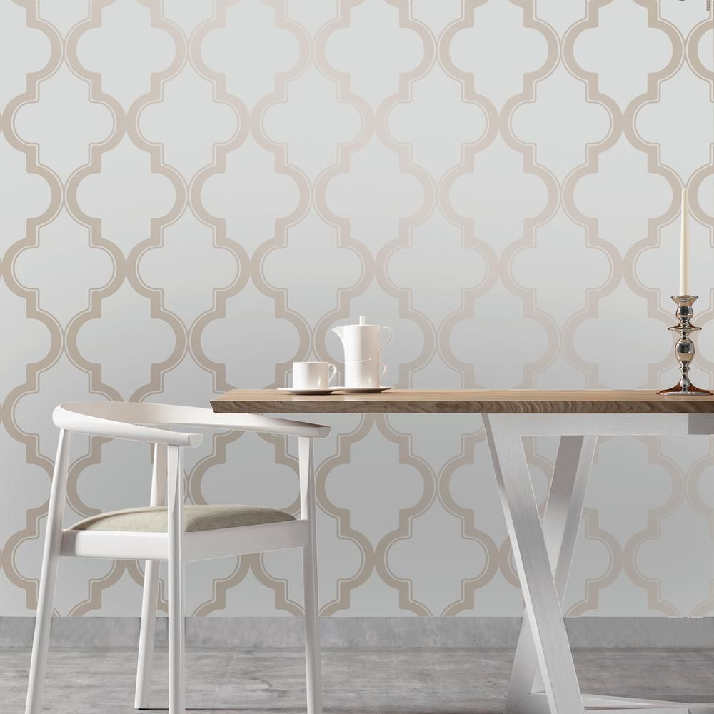 Shop At DormCo For Our Marrakesh Bronze Gray Designer Removable Dorm Room  Wallpaper! This Dorm Necessities Item Features A Light Design Of Bronze  Marrakesh ...