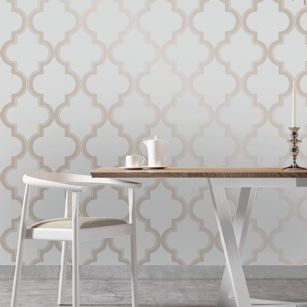 Marrakesh Self Adhesive Removable Wallpaper Bronze Grey