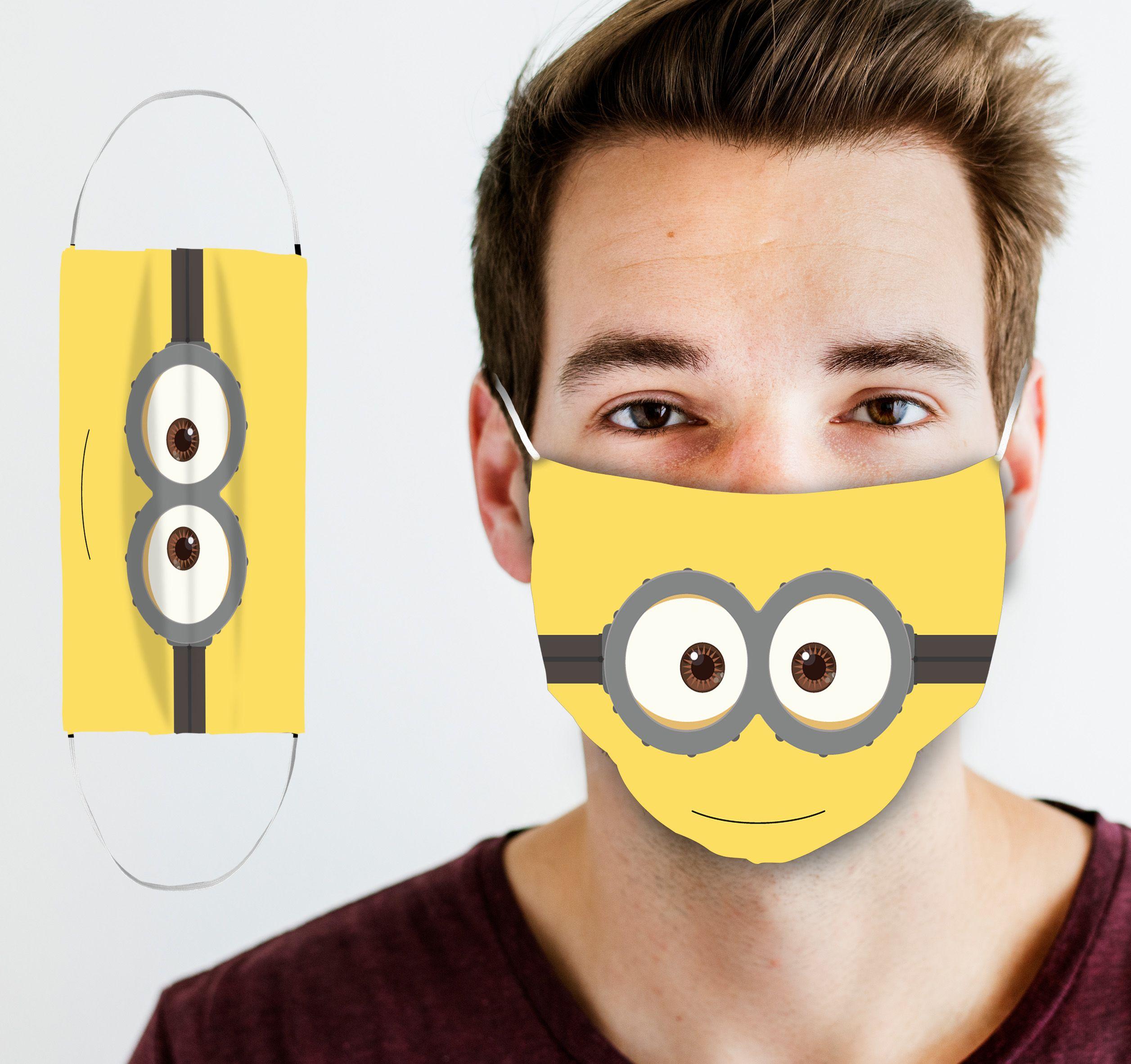 Minions Face Mask In 2020 Minion Face Minion Mask Minions