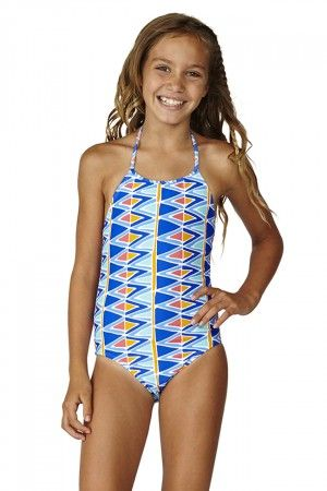 47b2a3707792e Raisins Girls Tulum Dreamin Pretty Girl Tank One Piece Swimsuit 7-16 | Girls