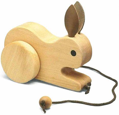 Wooden Toy Rabbit