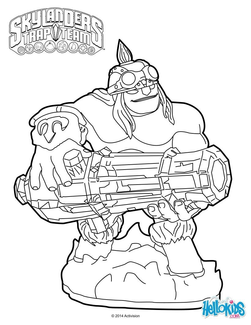 chaos skylanders coloring pages - photo#19