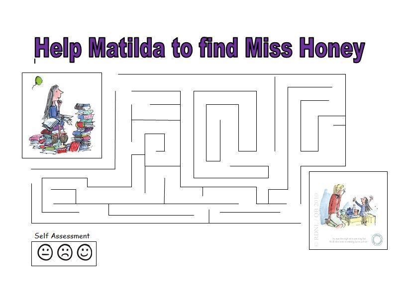 A Matilda maze - fun for Roald Dahl Day | Roald Dahl Activities ...
