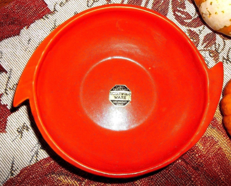 Tudor Pottery Hollywood Ware 1927 1939 Orange Deco Bowl | eBay